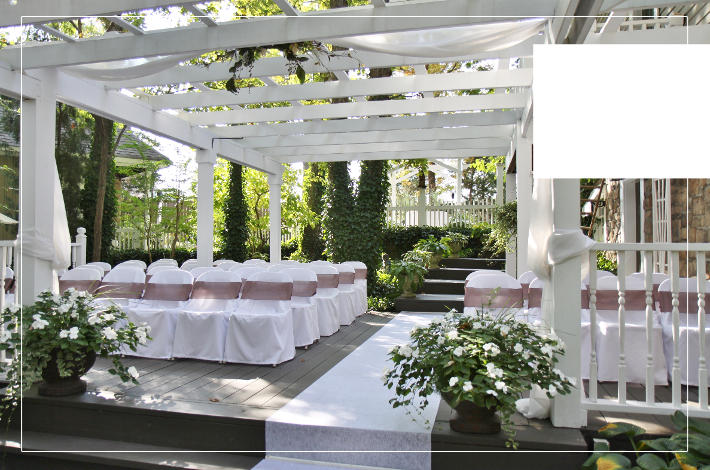 How to decorate for an outdoor wedding at Glen Garden.
